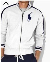 Polo Ralph Lauren Men Full Zip Track Big Pony Jacket White