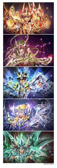 Saint Seiya by biggreenpepper on deviantART