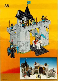 LEGO 6074 Black Falcons Fortress instructions displayed page by page to help you build this amazing LEGO Castle set Vintage Lego, Lego Design, Chateau Lego, Lego Burg, Instructions Lego, Lego Ritter, Lego Structures, Classic Lego, Lego Knights