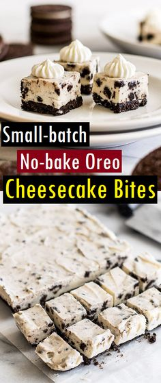 No-bake Oreo Cheesecake Bites are the perfect bite-sized treat. They're cute, tasty, and almost too easy to make! Ingredients Special E. Oreo Cheesecake Recipes, Cheesecake Bites, Oreo Dessert, Dessert Recipes, Yummy Recipes, Oreo Bites, Small Desserts, Yummy Treats, Sweet Tooth