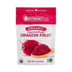 Pitaya Plus Organic Freeze Dried Red Dragon Fruit Powder - Thrive Market Pink Dragon Fruit, Dragon Fruit Smoothie, How To Make Smoothies, Healthy Groceries, Beautiful Fruits, Pitaya, Freeze Drying, Smoothie Drinks