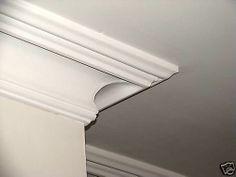 Victorian Swan Neck Plaster Cornice/ Coving Style C56 | eBay Plaster Coving, Plaster Cornice, Wood Molding, Crown Molding, Moulding, Ceiling Coving, Ceiling Rose, Living Room Remodel, My Living Room