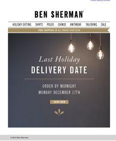 ben sherman holiday shipping