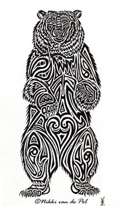 Tribal Bear Tattoo | Bear Tribal by nikki-vdp | Shadowness