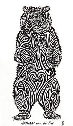 Tribal Bear Tattoo | Bear Tribal by nikki-vdp | Shadowness