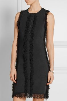 EDUN Fringed stretch-knit dress   net-a-porter