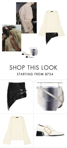 """""""through the thick&thin"""" by hemngways ❤ liked on Polyvore featuring Anthony Vaccarello, M2Malletier, The Row and STELLA McCARTNEY"""