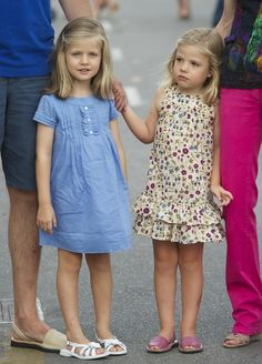 2 August 2011 - Princess Leonor & Infanta Sofía of Spain (R) arrive to the Real Club Náutico de Palma to attend Jaume Anglada's pop concert during the 2nd day of the 30th Copa del Rey Mapfre Audi Sailing Cup in Palma de Mallorca, Spain.