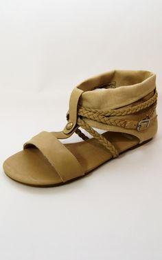 Beige Material & Plait Strap Flat Sandals   Price: £8.00 http://www.riskyfashions.com/p/Beige-Material-andamp;-Plait-Strap-Flat-Sandals_841.html