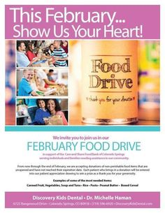 Remember, you have till the end of the month to bring in food to our office for Care and Share! Source The post Remember, you have till the end of the month to bring in food to our office for appeared first on Discovery Kids Dental.