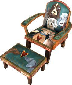 Friedrich's Chair with Ottoman
