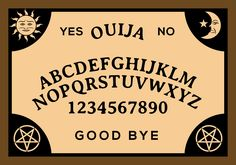 Vector illustration of ouija board for any projects