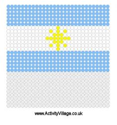 Argentina Flag Fuse Bead Pattern