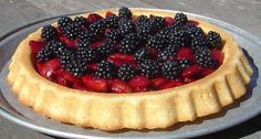 A blog posting about making a great summer cake with plums and blackberries from the garden.