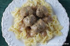 Swedish Meatballs - IKEA style.  Easy and yummy! Although I cheated and used Costco meatballs with this recipe  of gravy.  Just didn't have the time - I plan on trying it in the future though