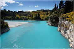 Rakaia, South Island, New Zealand Copyright: Yves Emprin Natural Scenery, South Island, Out Of This World, Holiday Travel, New Zealand, Places To Go, River, Beach, Nature