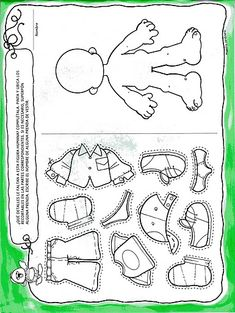 Material educativo para maestros: Actividades cuerpo humano para Educación Inicial