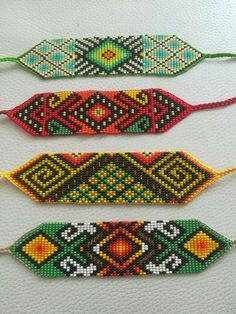 Bead Loom Patterns, Beading Patterns, Loom Beading, Bracelets, Macrame, Beaded Jewelry, Origami, Crochet, Diy