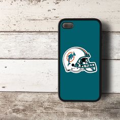 NFL Miami Dolphins Helmet Logo HYBRID iPhone 4 4s Case Cover BLACK - PDA Accessories