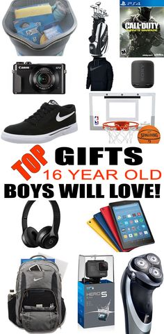 Top Gifts For 16 Year Old Boys! Best gift suggestions & presents for boys sixteenth birthday or Christmas. Find the best ideas for a boys 16th bday or Christmas. Shop the best gift ideas now for tweens & teens.