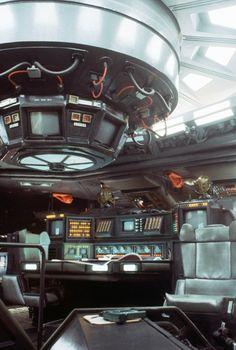 Enjoy a huge gallery featuring concept art, models, behind the scenes photos & more from Ridley Scott's movie Alien. Alien 1979, Alien Film, Science Fiction, Pet Sematary, Cyberpunk, Ridley Scott Movies, Spaceship Interior, Futuristic Interior, Spaceship Design
