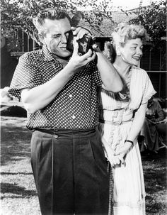 Lucy and Desi celebrating daughter Lucie's first Birthday (July 17, 1952)