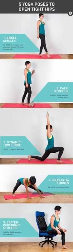 Yoga Poses for Healthy Hips #yoga #fitness #stretch