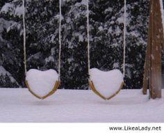 Winter valentine's love in the snow photo art
