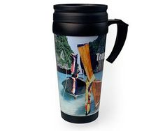 The Malabar Photo Travel Mug has a double skinned body that traps air between helping to maintain a hot drink for longer. Plastic Glass, Ceramic Mugs, Photo Quality, Suits You, Travel Mug, Prints, Beverages, Image, Pottery Mugs