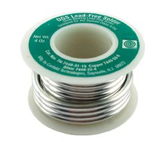 This listing is for 1/4 pound spool of Canfields DGS lead free solder that contains silver. Melting temperature of 415-490 degrees F. This lead free solder works almost the same as the 60/40 and has a high luster finish. Its easy to use, runs an excellent bead, patinas well and is environmentally safe. Perfect for stained glass artists and jewelry designers