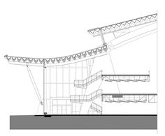 Gallery of Richmond Olympic Oval / Cannon Design – 4 Richmond olympisches Oval Architecture Concept Drawings, Chinese Architecture, Architecture Details, Steel Structure Buildings, Roof Structure, Space Truss, Structural Drawing, Surface Modeling, Bamboo Structure