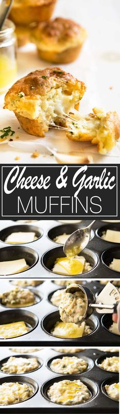 Cheese & Garlic Muffins | Made these last weekend, my friends said they REALLY tasted like cheesy garlic bread!!!