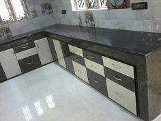 Kichen Moduler Kitchen, Kitchen Modular, Kitchen Room Design, Modern Kitchen Cabinets, Smart Kitchen, Kitchen Sets, Kitchen Flooring, Interior Design Kitchen, Kitchen Furniture