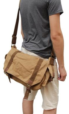 Otium 30623KA Canvas Genuine Leather Cross Body Messenger Handbag Bag,Khaki Gootium http://www.amazon.com/dp/B00DO0Z4UE/ref=cm_sw_r_pi_dp_XSQ-tb0BFQN2S