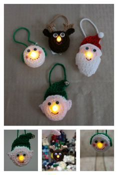 Easy Crochet Patterns Lighted Ornament Free Crochet Pattern - Scrambling for last-minute Christmas gifts? Here are 10 Fast and Easy Christmas Crochet Free Patterns to save money. Crochet Christmas Decorations, Crochet Ornaments, Christmas Crochet Patterns, Holiday Crochet, Christmas Knitting, Crochet Gifts, Free Crochet, Crochet Snowflakes, Easy Crochet