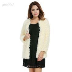 >> Click to Buy << Fashion Women Winter Clothing Faux Fur O-neck Winter Keep Warm Loose Long Jacket Coat Outwear #Affiliate