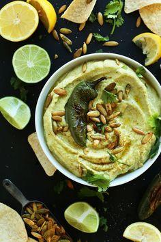 Creamy Roasted Jalapeno Hummus! #vegan #glutenfree #hummus