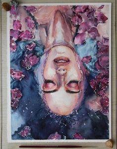 New bath art woman Ideas – us.space/ New bath art woman Ideas – us. Art And Illustration, Watercolor Illustration, Portrait Paintings, Portrait Art, Art Paintings, Self Portrait Drawing, Realistic Paintings, Portrait Poses, Pencil Portrait