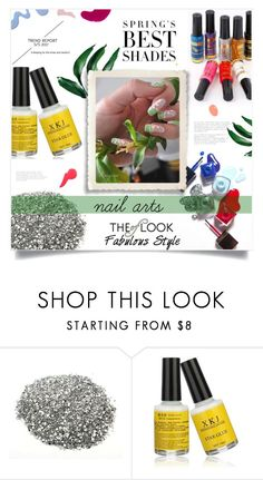 """NEWCHIC-nail arts"" by ainzme ❤ liked on Polyvore featuring beauty and newchic"