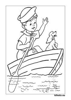 Hajós kifestők és színezők. Hajós nyomtatható kifestők.