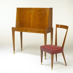 175: Gio Ponti / secretary and chair < Important 20th Century Modern Design, 25 September 2005 < Auctions   Wright