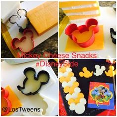 Disney Snack Idea - Mickey Mouse Cheese Snacks