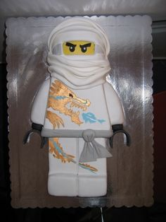 """Lego Ninjago cake """"I have quite a few I have made for my kids and friends kids """" - Amanda Holland Ninja Birthday Parties, Boy Birthday, Birthday Cake, Lego Parties, Birthday Ideas, Lego Ninjago Cake, Ninjago Party, Bolo Lego, Ninja Cake"""