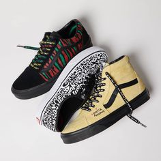 Release Date : April 2018 Vans x A Tribe Called Quest Old Skool / / UA Authentic Latest Sneakers, Vans Sneakers, High Top Sneakers, A Tribe Called Quest, Converse Chuck Taylor, Kicks, Walking, Blue, Shoes