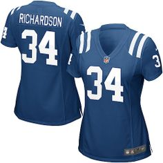 $109.99 Nike Elite Women's Nike Indianapolis Colts #34 Trent Richardson Elite Team Color Jersey