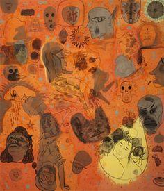 Darek Vasina, Zodiak, acrylic, 240cm x 240cm, 2012  #art #painting #zodiak #lasem #grupalasem