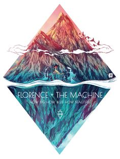 Florence and the Machine - How big How blue How beautiful art Star Photography, Florence The Machines, Tour Posters, Florence Welch, Indie, Concert Posters, Album Covers, New Art, Ideas
