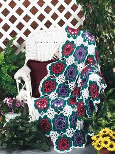 Crochet Afghans - Assorted Crochet Afghan Patterns - Arabesque Crochet Afghan Pattern
