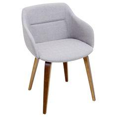 Campania Mid-Century Modern Chair in Walnut Wood by LumiSource