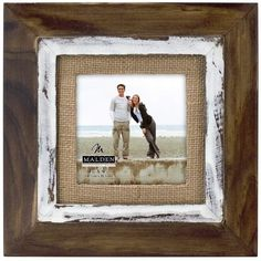 Malden International Designs Rustic Distressed Wood Fashion Two Tone Cedar Picture Frame with Burlap Mat Picture Frame, Brown ❤ Malden International Designs Distressed Picture Frames, Rustic Picture Frames, Distressed Wood, Rustic Wood, Rustic Frames, Wood Frames, Art Frames, Barn Wood, Rustic Decor